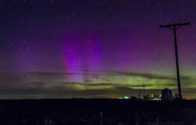 Auroras boreales vistas desde Nebraska el 1 de junio de 2013