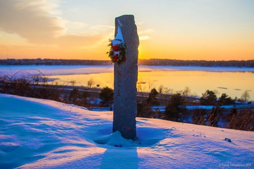 February 2015 Portland, Maine Major Charles J. Loring Memorial Park on Munjoy Hill Sunset photo by Corey Templeton