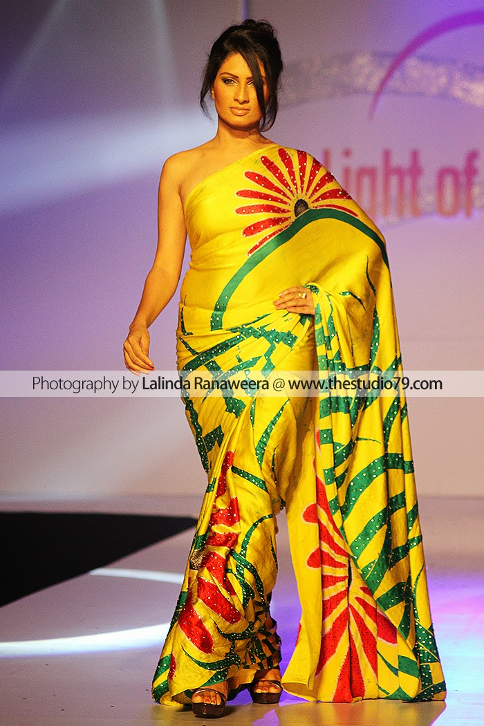 Sri Lanka Fashion Models saree