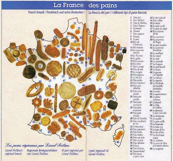 mapa de la france des pains