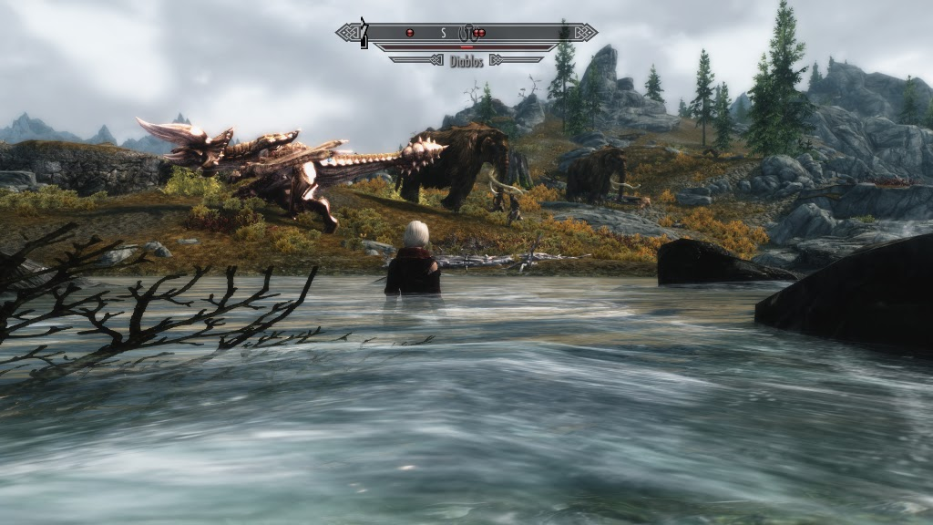 how to kill a giant and mammoth in skyrim