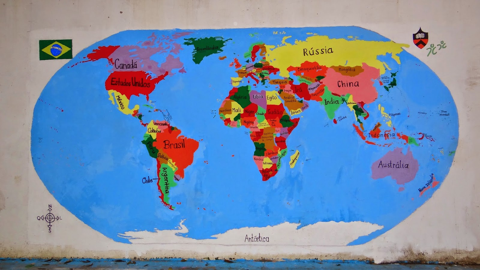 Weve got the whole world in our hands mural photos saudaes beginning in february we decided to do the peace corpss world map project at one of our service sites an orphanage we thought the kids would really publicscrutiny Image collections