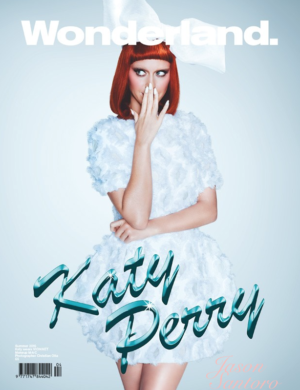 Katy Perry new cover girl for Wonderland Magazine Summer 2015 issue.