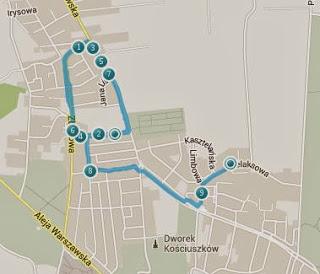 Trasa treningu biegowego - Lublin
