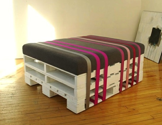 Exceptional Upcycled Pallet Ottoman. Get An Old Pallet, Ribbons Or Belts And Be  Inspired By David Alexandre Cote Of BCK To Create Functional Pieces Of  Furniture.