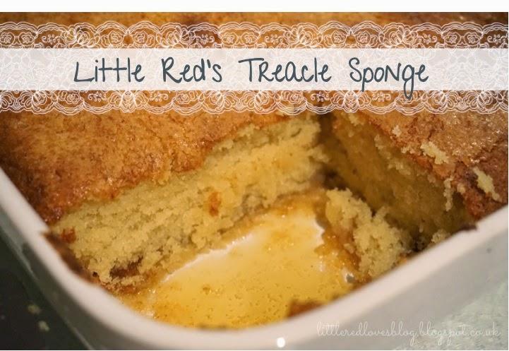 Little red loves for Treacle sponge pudding oven