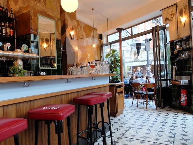 bar déco vintage années 50 et industrielle du Centreville, Restaurant à Paris 11ème  charonne Keller