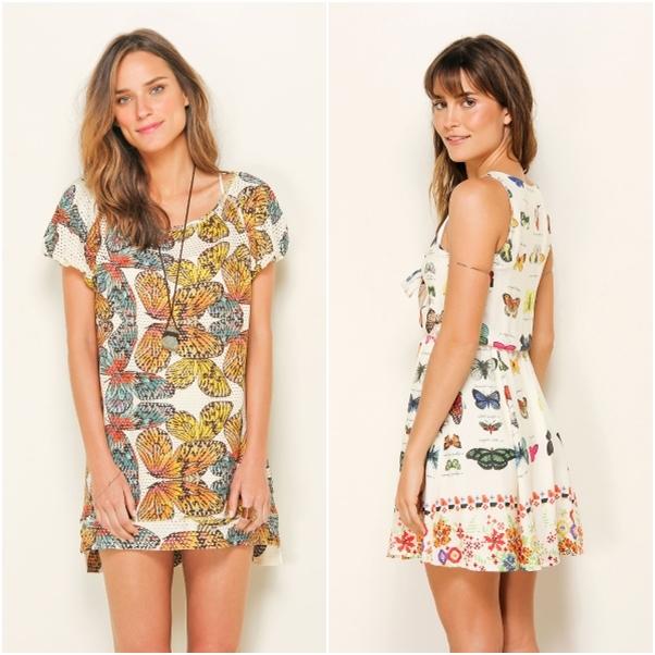 Tendência Verão 2014 Insetos Trend Borboleta Farm Vestido