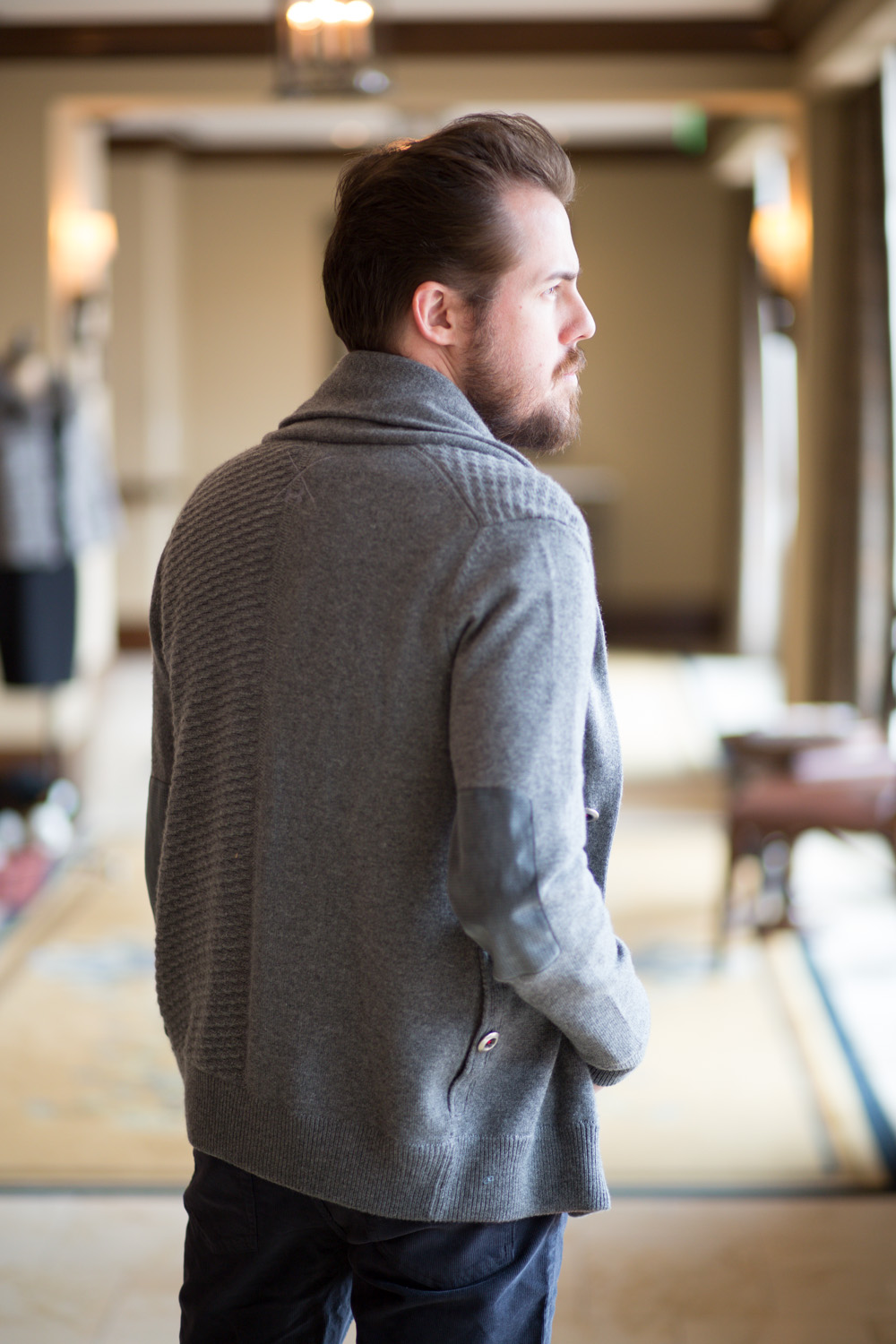 Under Armor Cardigan - Menswear Fashion Blog