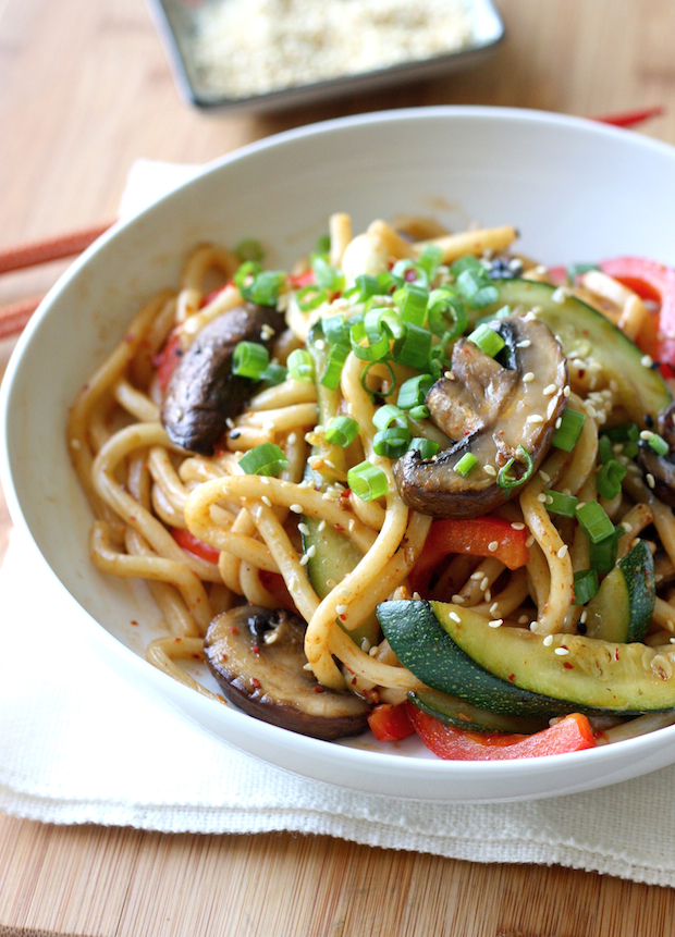 Spicy Beef, Pepper & Asparagus Udon Noodles Recipes — Dishmaps
