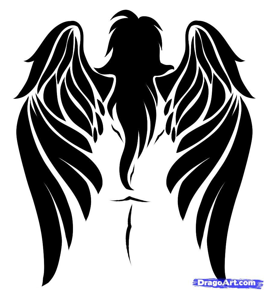 Рисунок тату ангел и демон