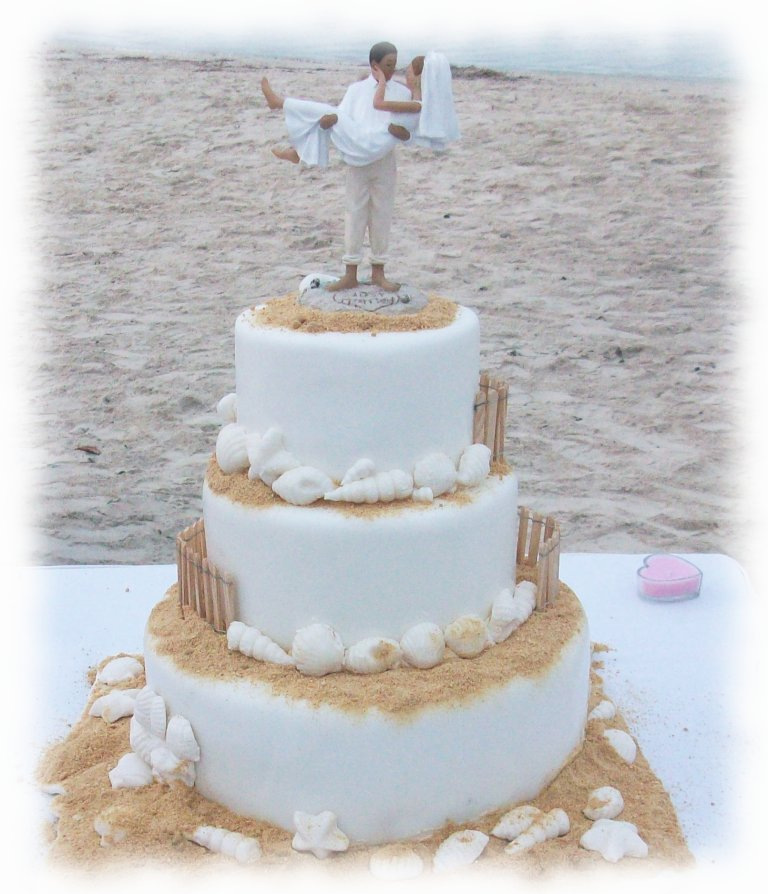5 Awesome Ideas Beach Wedding Cakes