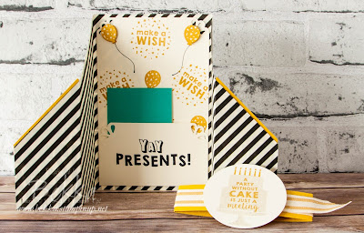 Party Wishes Fancy Fold Card with a Hidden Bonus Check it out here