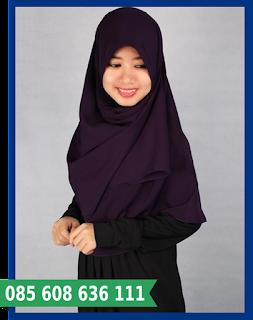 Hijab segi empat tebal
