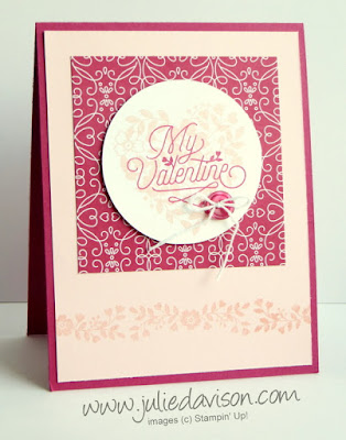 Stampin' Up! Bloomin' Love Valentine's Day Card for GDP018 #stampinup #valentine www.juliedavison.com