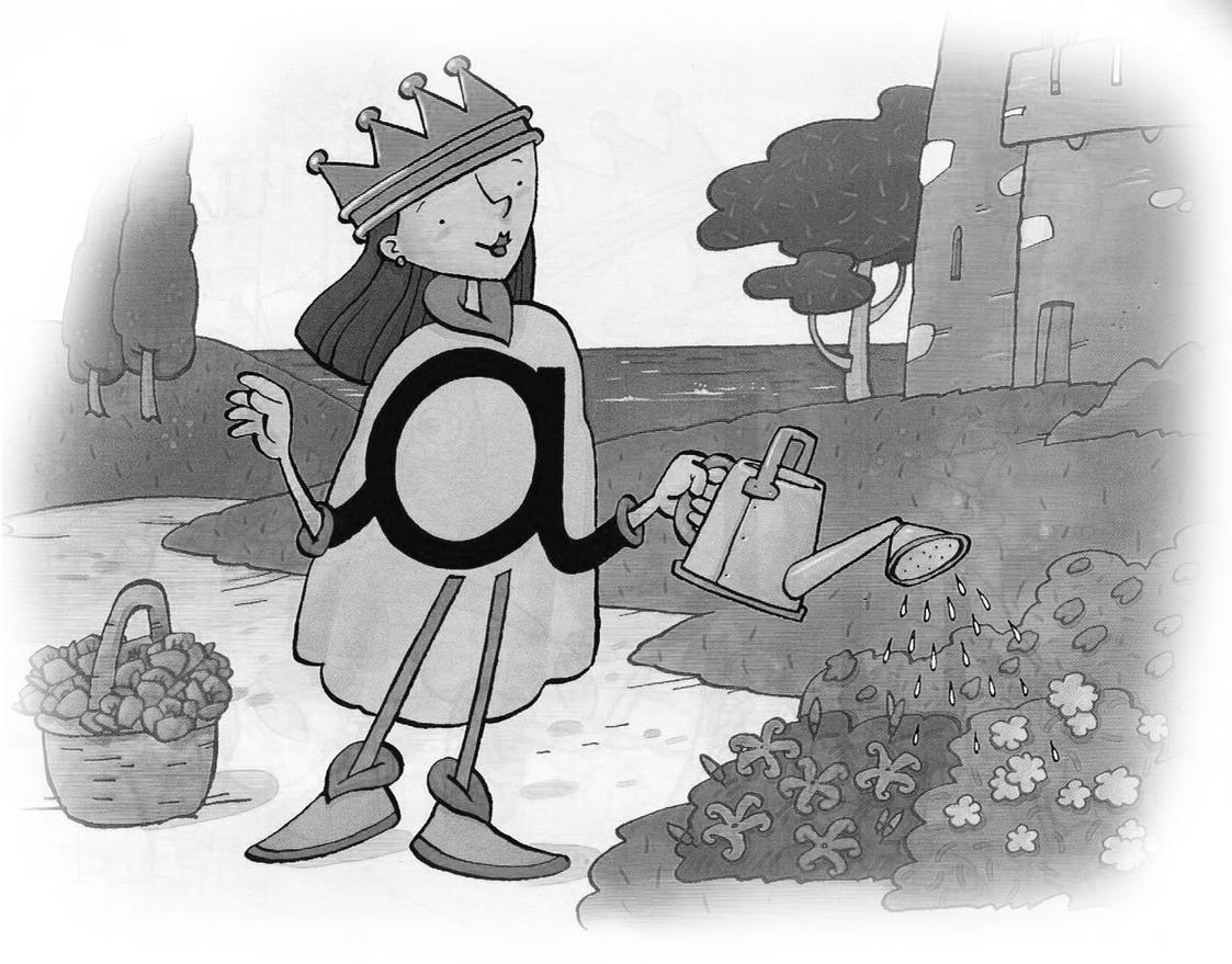 La eduteca cuentos de las letras la reina a for Letras gijon jardines de la reina