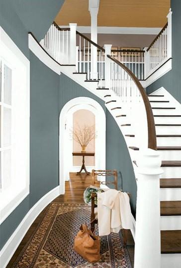 slate blue | Through the Front Door