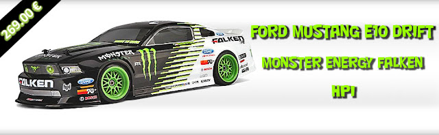 FORD MUSTANG FALKEN MONSTER ENERGY E10 DRIFT HPI