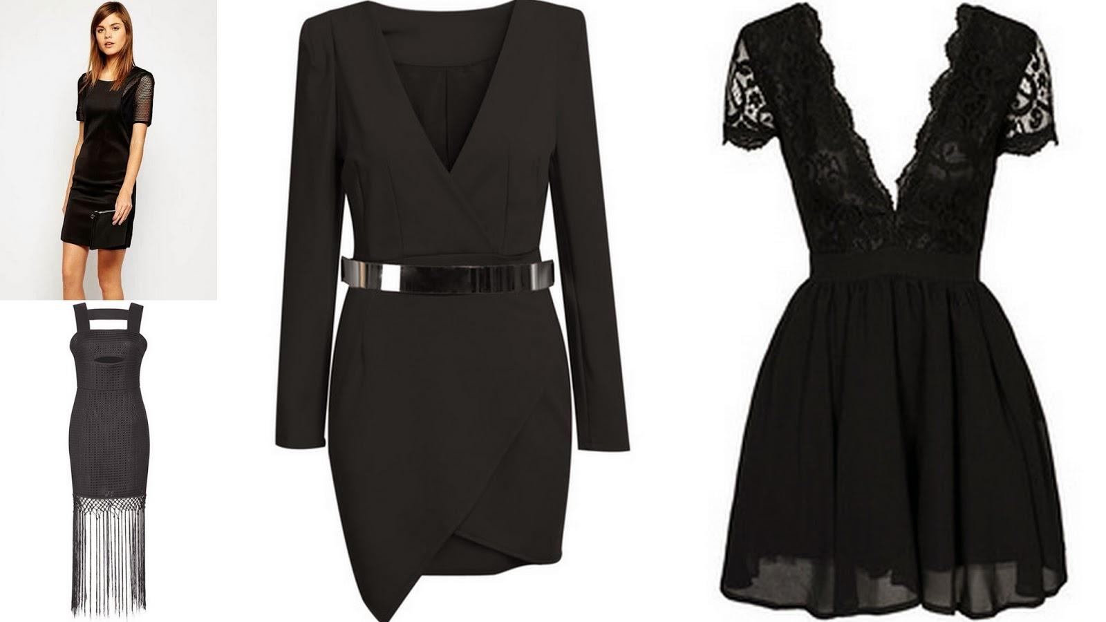 mała czarna, sukienki na sylwestra, modne sukienki