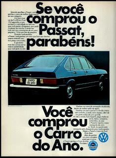propaganda Volkswagen Passat - 1975. brazilian advertising cars in the 70. os anos 70. história da década de 70; Brazil in the 70s; propaganda carros anos 70; Oswaldo Hernandez;