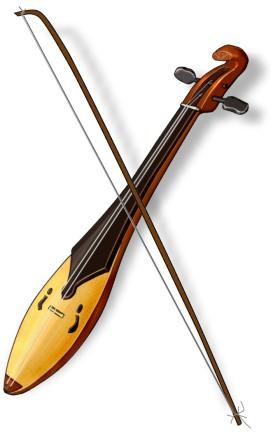 中国 トン族の牛腿琴