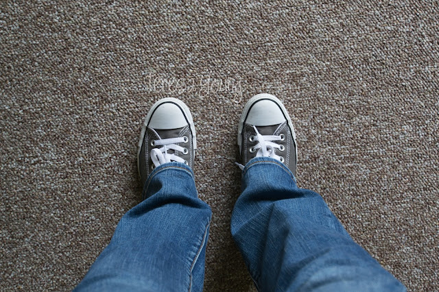 charcoal Converse All Stars