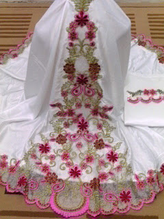 Mukena Dewasa MD-01 Pink (Detail Bordir)