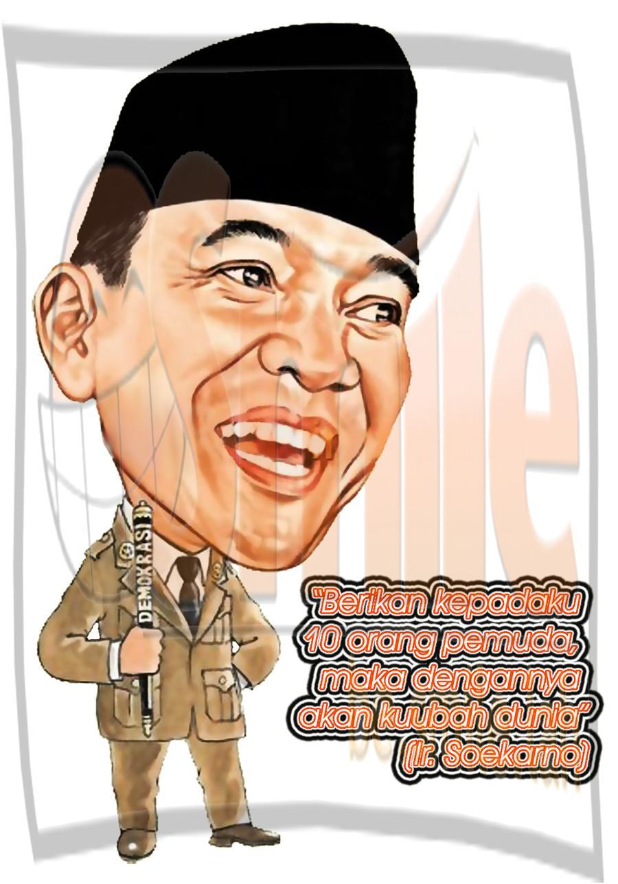 Contoh Gambar Karikatur Jokowi Xmast 2