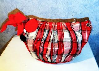 trousse tissu écossais