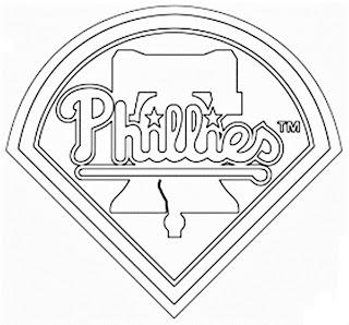 Escudo de los Phillies para colorear