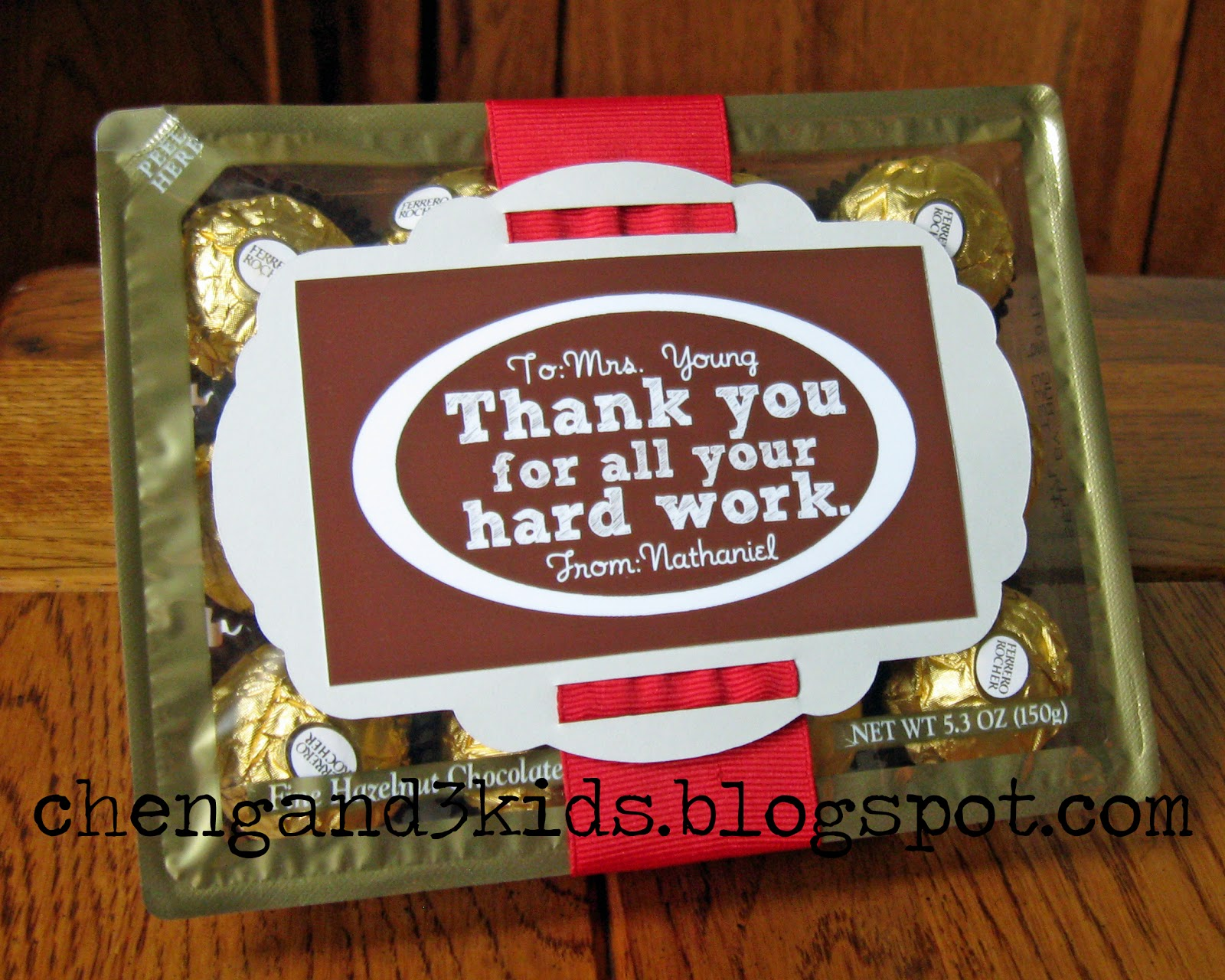cheng and 3 kids nath s gift for teacher appreciation day this is our gift for my son s teacher for teacher appreciation day they are ferrero