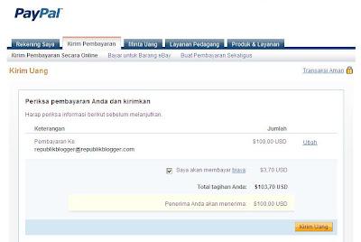 Transaksi Pembayaran Pribadi Paypal-2