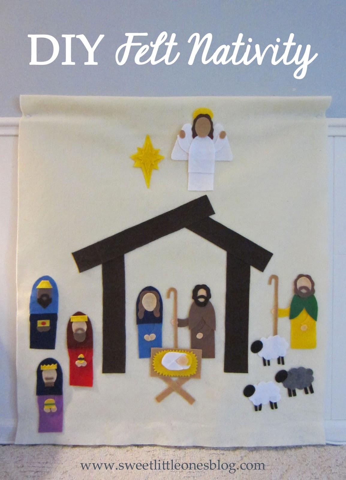 DIY Felt Nativity Scene for Kids - http://www.sweetlittleonesblog.com