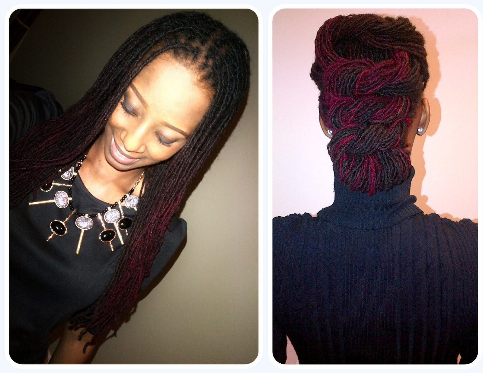 Loc n tuck hairstyle shades n styles posted in d i y hair diy loc styles my locs solutioingenieria Image collections