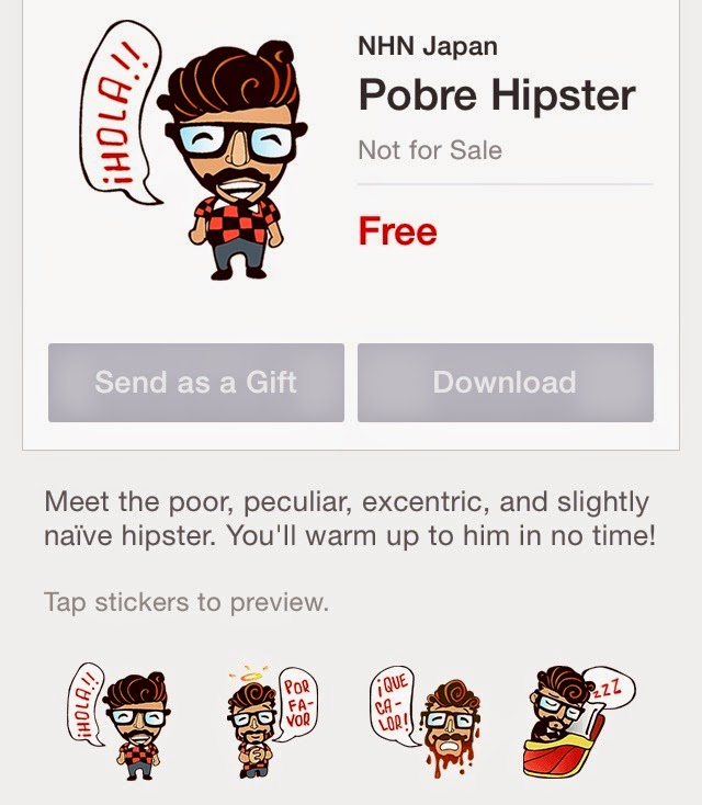 Pobre Hipster sticker