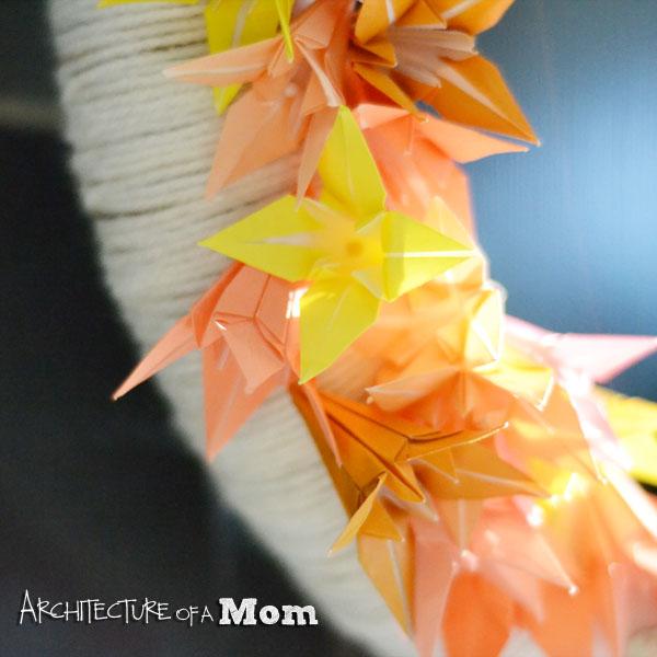 Adding Origami Lilies Closeup
