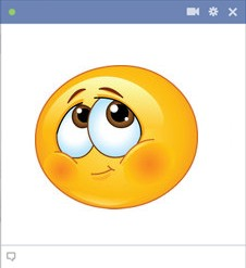 Shy Emoticon Symbol For Facebook