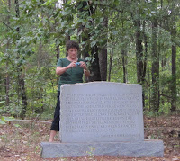 Debby photographing Lovejoy Monument