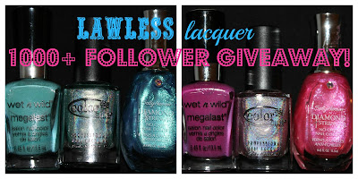 Lawless Lacquer's 1000+ Follower Giveaway!