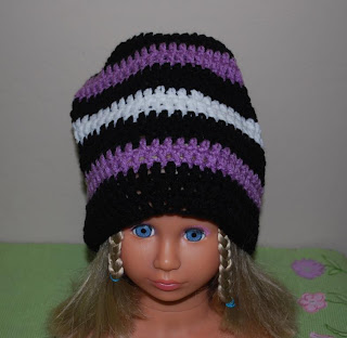 Big crochet beanie hat almost slouchy