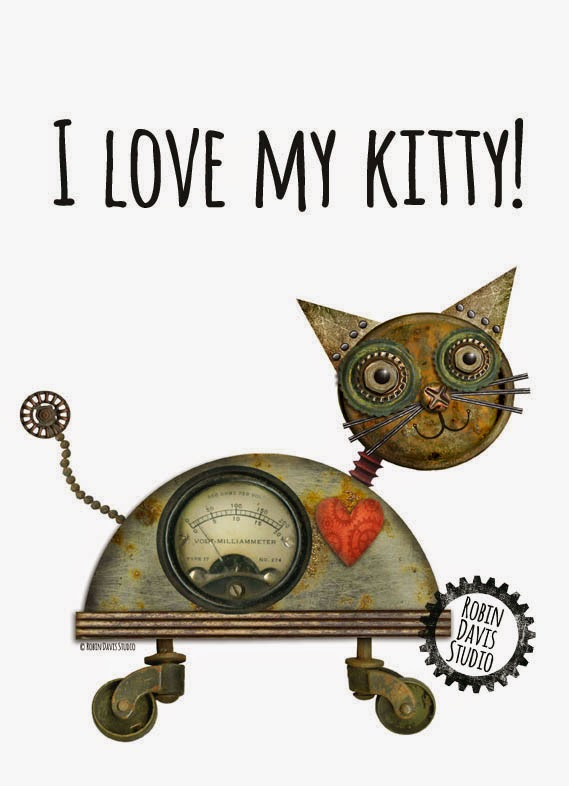 My Kitty Robot print | Robin Davis Studio