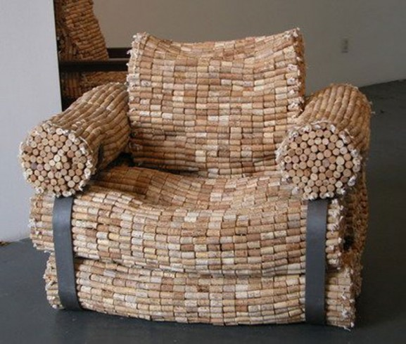 armchair from cork