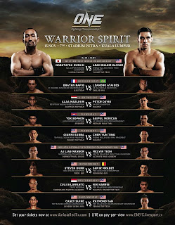 ONEFC 12 Warrior Spirit 2013 Malaysia full fight card