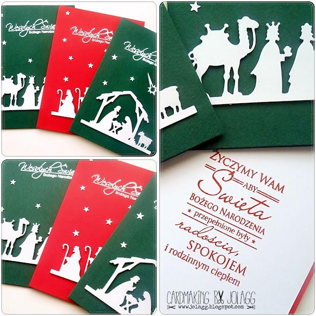 Kartki bożonarodzeniowe – tryptyk