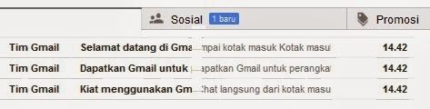 catat waktu pembuatan akun gmail anda