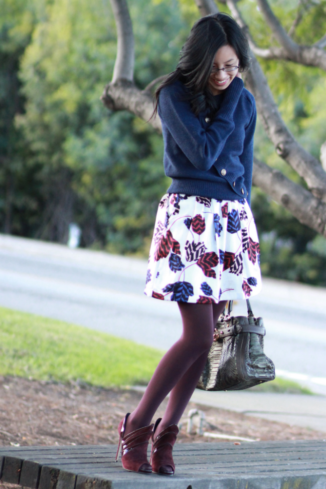 skirt with stockings tights winter 2013 trend