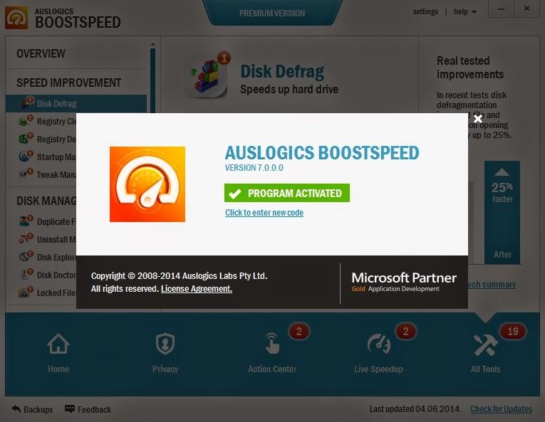 Download AusLogics BoostSpeed Premium 7.0 Full Crack