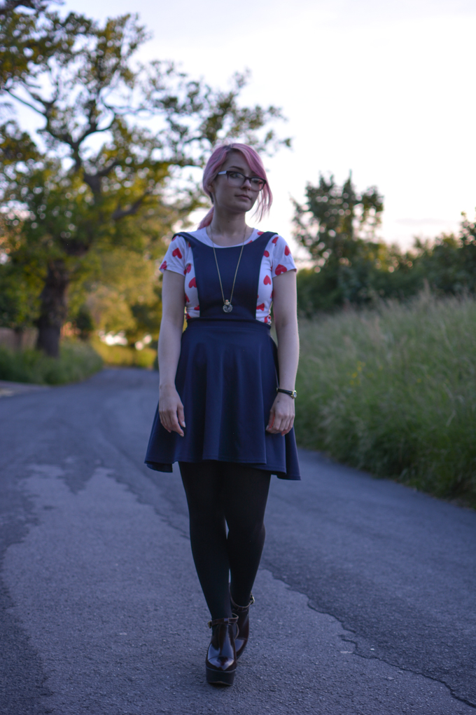 asos pinafore dress outfit ootd