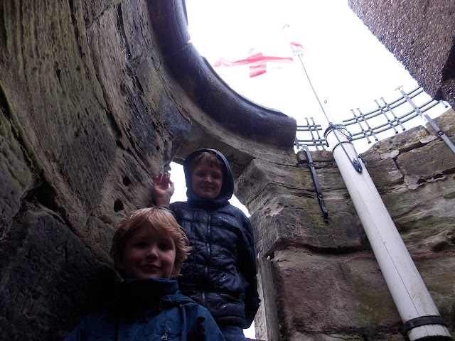 inside tutbury castle tower