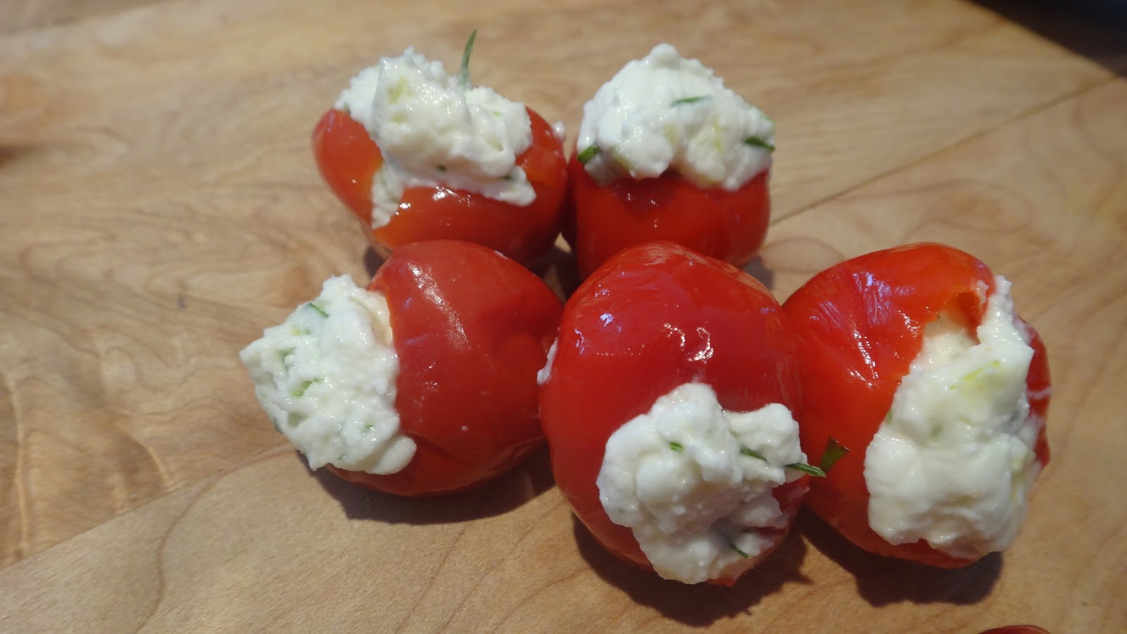 want to cook that: Dill and Feta stuffed Peppadew Peppers